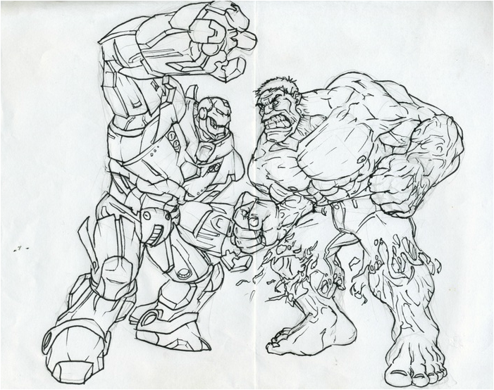 Ironman hulk buster coloring pages